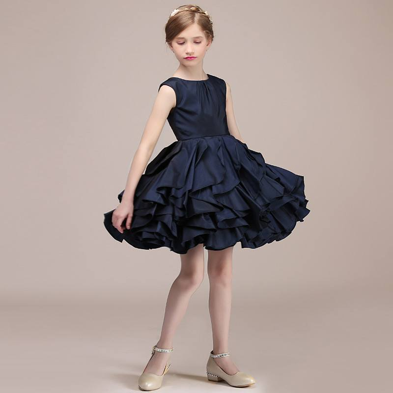 Weddings & Events Kids Girls High Waist Sleeveless Pleated Flower Girl Dress Princess Vestidos For Pageant Wedding Holiday Birthday Party Dress 2019 Official