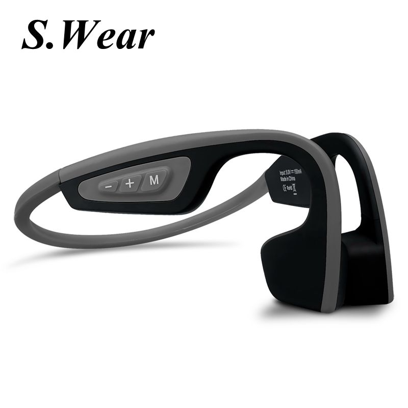 New S.Wear LF-19 Wireless Bluetooth Headset Waterproof Stereo Neck-strap Headphone Bone Conduction NFC Hands-free Smart Earphon цена