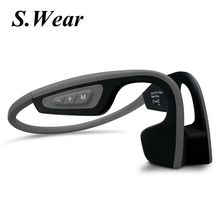 New S.Wear LF-19 Wireless Bluetooth Headset Waterproof Stereo Neck-strap Headphone Bone Conduction NFC Hands-free Smart Earphon