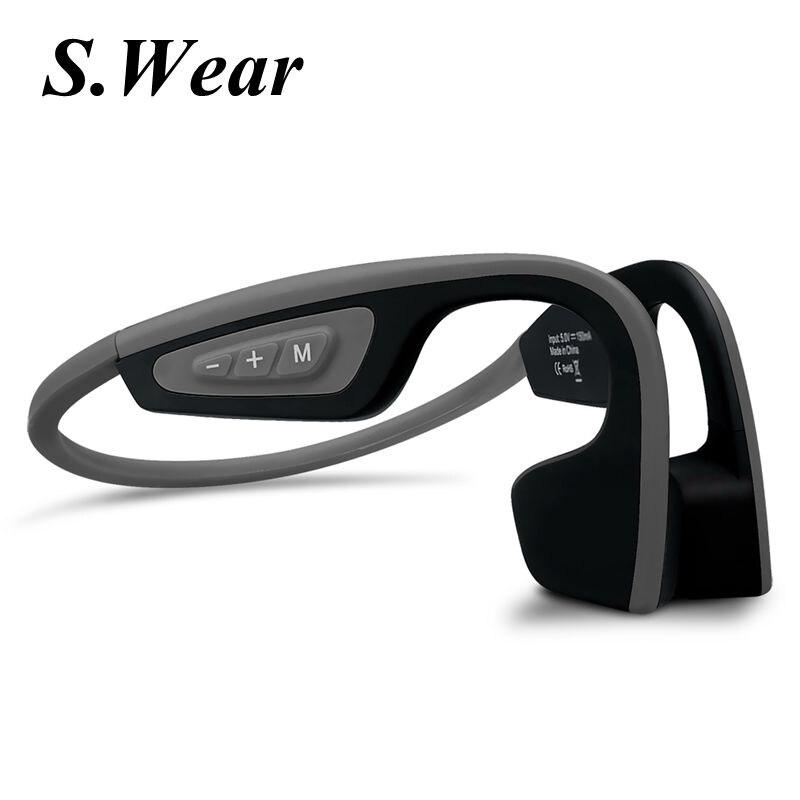 Nouveau S. Porter LF-19 Sans Fil Bluetooth Casque Stéréo Étanche courroie de Cou Casque Conduction Osseuse NFC Mains-livraison Smart Earphon