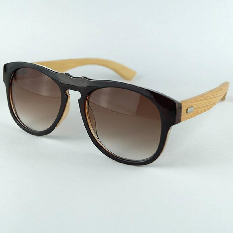 Unique Style Bat Shape Plastic Frame Bamboo Legs Wooden Sunglasses UV400 Lenses Gift Pouch