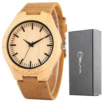 Reloj Simple de Bambú - 8 Modelos Diferentes