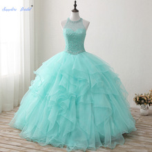 Sapphire Bridal Mint Gown Quinceanera Dress 2019