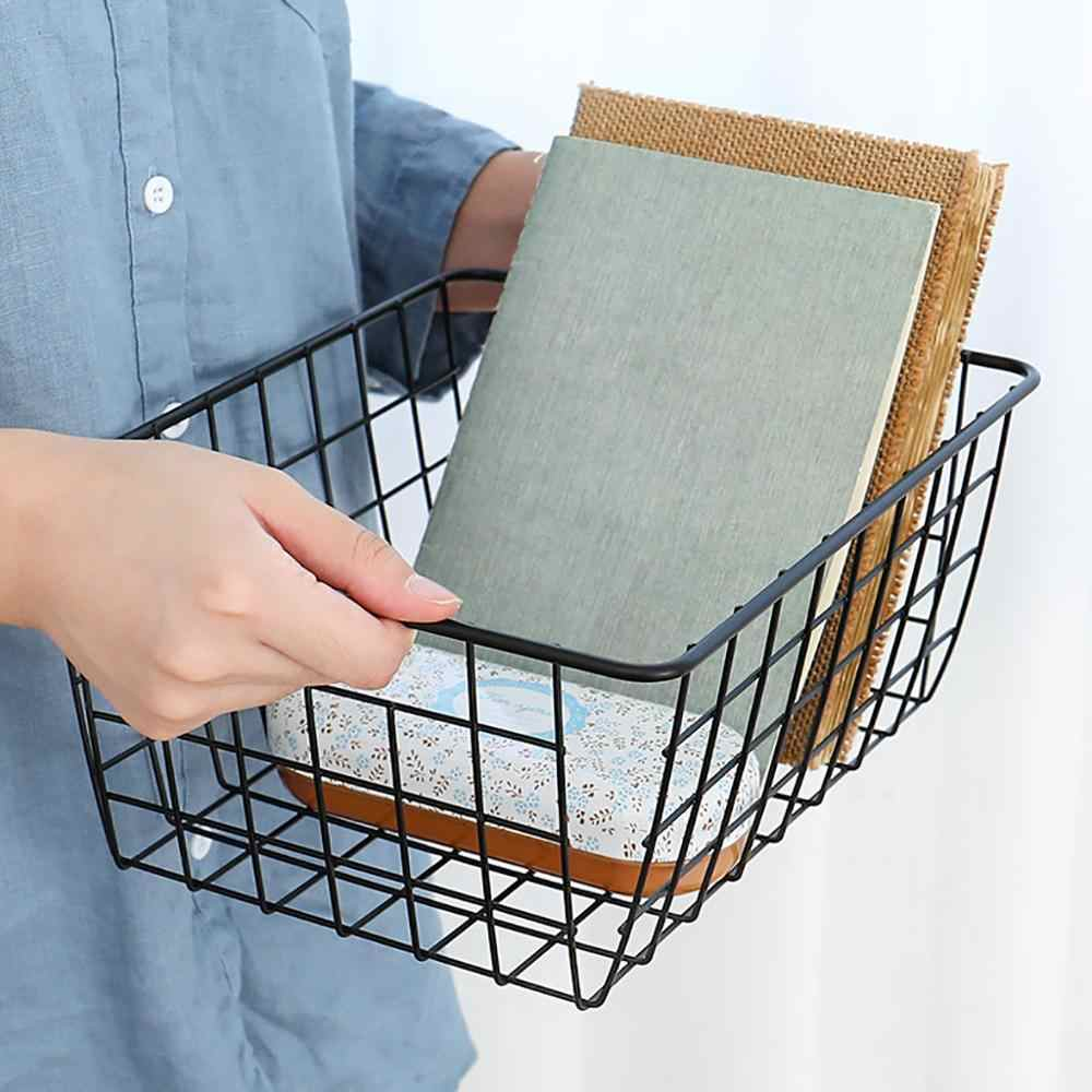 Office storage basket laundry fruit Shopping basket organizer Bath Kitchen Rooms basket for toys storage cesto ropa sucia @25