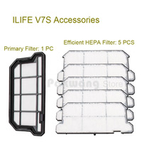 Original ILIFE V7S Primary Filter 1 Pc And Efficient HEPA Filter 5 Pcs Of Robot Vacuum