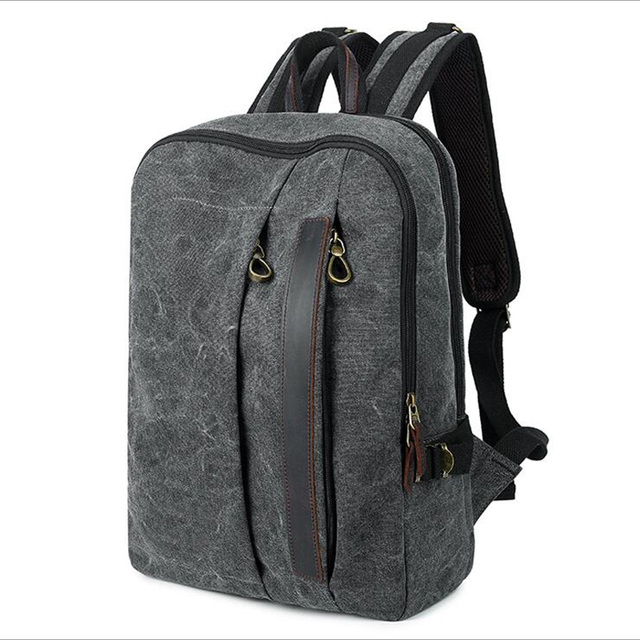 2019 New High Quality Vintage Fashion Casual Canvas Unisex Men Women Zipper  Backpacks Shoulder Bags Classic School bag B-041