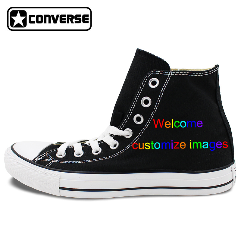 ece110ece01cb1 ... discount code for custom black converse all star hand painted shoes  high top canvas sneakers price