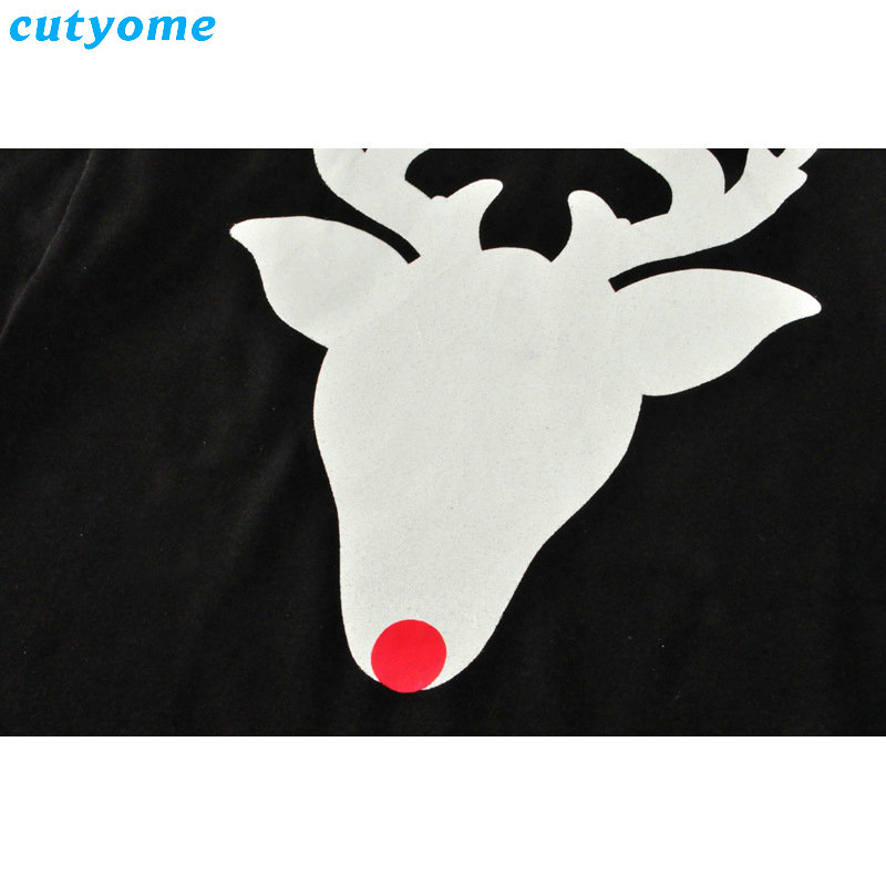 Matching Mother And Daughter Clothes Long Sleeve Dress Christmas Deer Printed Baby Girls Women Dresses Matching Look Outfits (9)