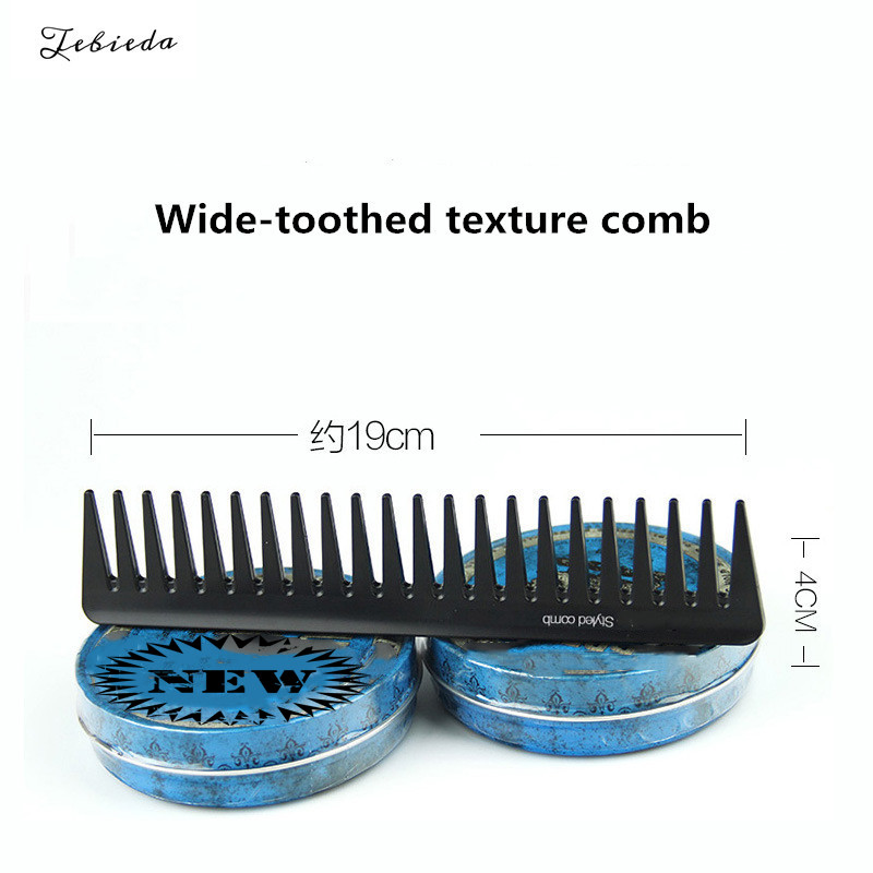 Купить с кэшбэком Tebieda 1Pcs Men's light wide tooth texture comb oil head back styling comb carbon fiber hair comb