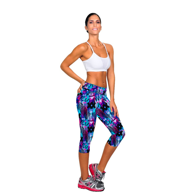 4 Color Capri Pants Women Leggings Fitness Workout Sport Pants Running Jogging Trousers Skinny Fitted Stretch Pants