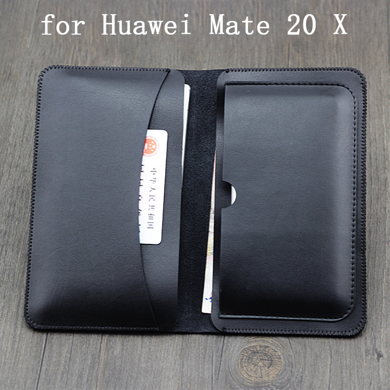 Multi-function Wallet Case for Huawei Mate 20X PU Leather Flip Phone Bag Cover for Huawei Mate20 X Business Purse Mate 20 X Skin wallet