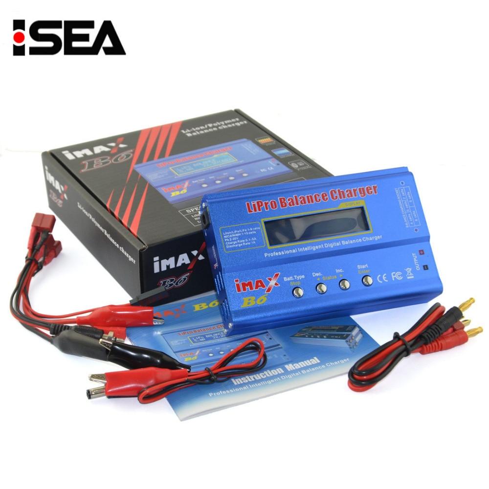 Venda quente Carregador de Bateria Lipo iMAX B6 80 w 6A HTRC Ni-Cd Digital Equilíbrio RC Carregador de NiMh Li-ion descarregador + 15 v 6A Adaptador