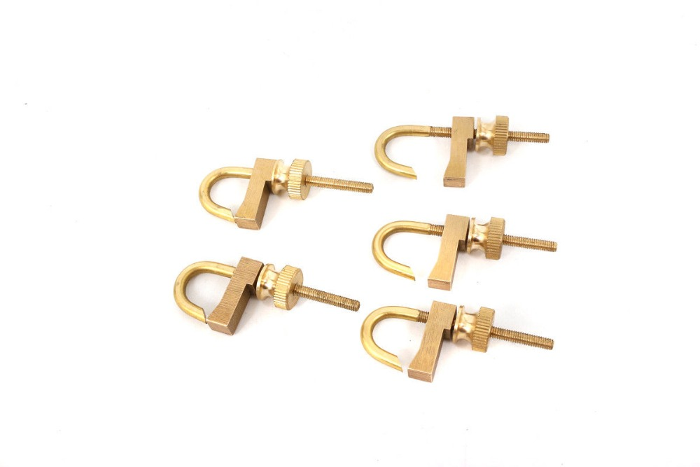 5pcs New Violin Making Tool Brass Repair Violin Crack Clamp Luthier Tool Adjustable