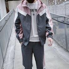 цена Sweatsuit Men Set Fashion Spring Sporting Suit Hoodies Sweatshirts Jacket+Pants Sportswear 2 Piece Set Tracksuit For Men Clothes
