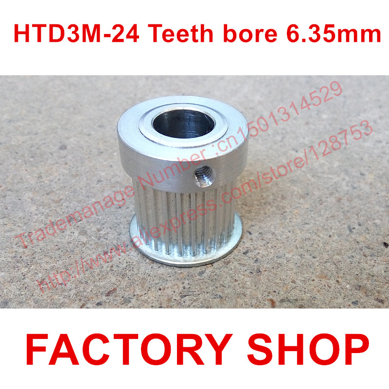 5pcs HTD 3M Timing Pulley 24 teeth Bore 6.35mm fit belt width 15mm for CNC machines laser machine engraving machine High quality