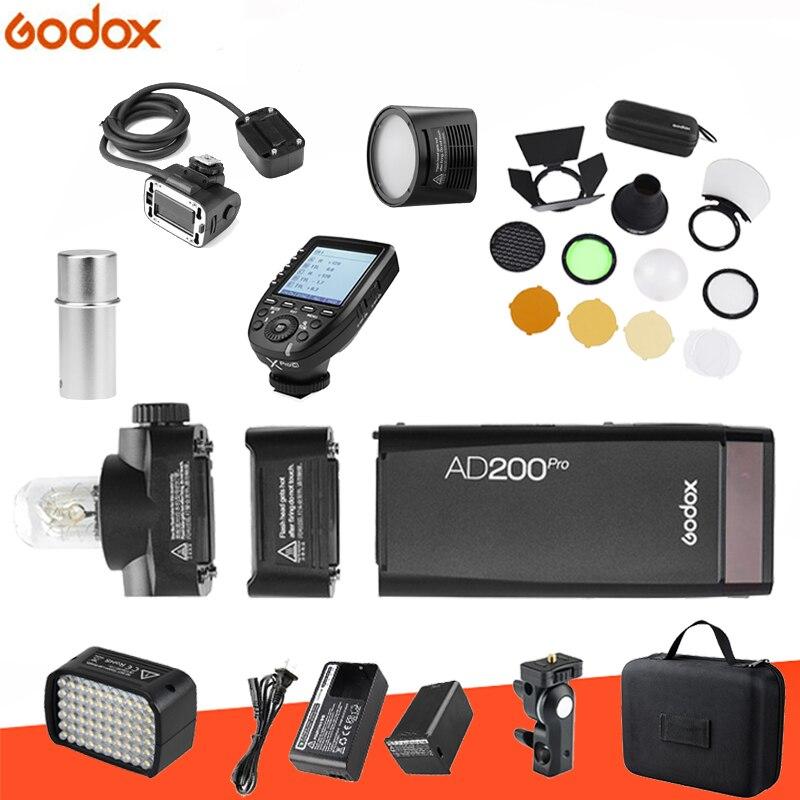 Godox AD200pro Kit 200Ws 2.4G TTL Pocket Flash Cordless Monolight 2900mAh Lithimu Battery and Bare Bulb/Speedlite For CamerGodox AD200pro Kit 200Ws 2.4G TTL Pocket Flash Cordless Monolight 2900mAh Lithimu Battery and Bare Bulb/Speedlite For Camer
