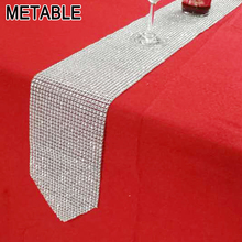 Metable Bling Table Runner 275cm long crystal Mesh Sparkling Christmas Party Wedding Banquet Baby Showers Decoration