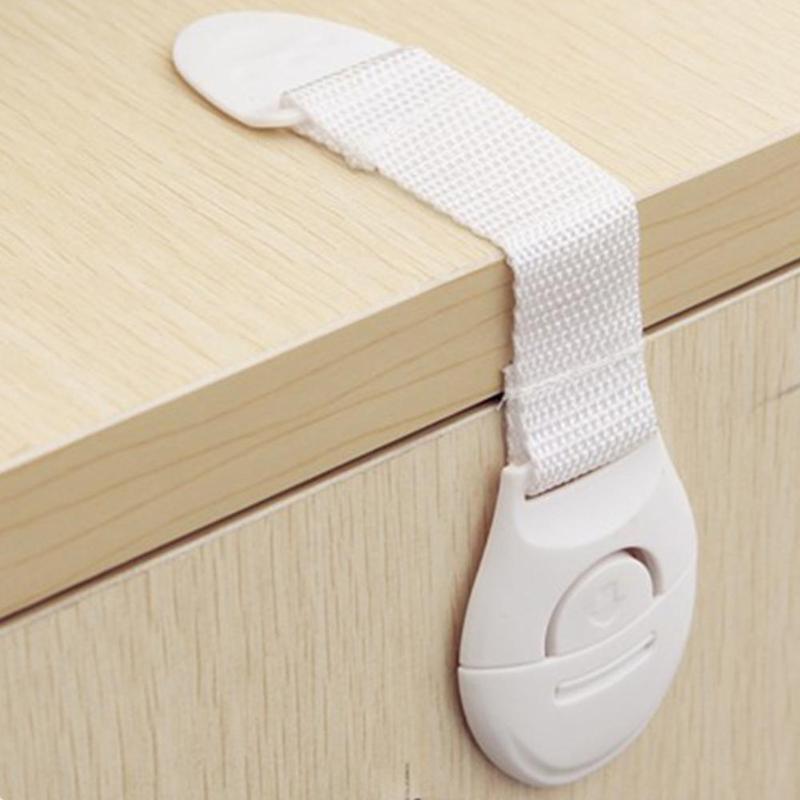 8pcs Children Safety Cabinet Locks Multifunction Cupboard Door Drawer Straps Baby Security Protection Refrigerator Closet Lock