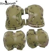 SINAIRSOFT Alta Qualty Campo Codo y Rodilleras Rodilleras y los Cojines de codo Para Deportes Tactical Paintball Rodilla Protector LY0800