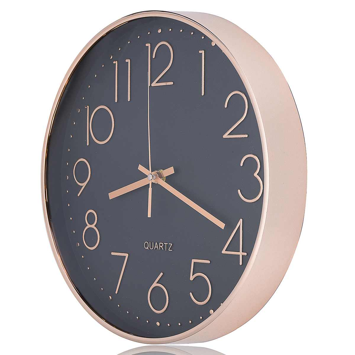 Wall-Clocks Wall-Hanging No-Battery Bedroom Rose-Gold Living-Room Home-Decor Black Silent title=