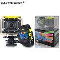 1080 P 60FPS 16MP HD Câmera Gopro Hero 2 Wifi Estilo Actoin Cam ação com Controle Remoto 145D Lente Grande 60 m À Prova D' Água Câmera de Esportes