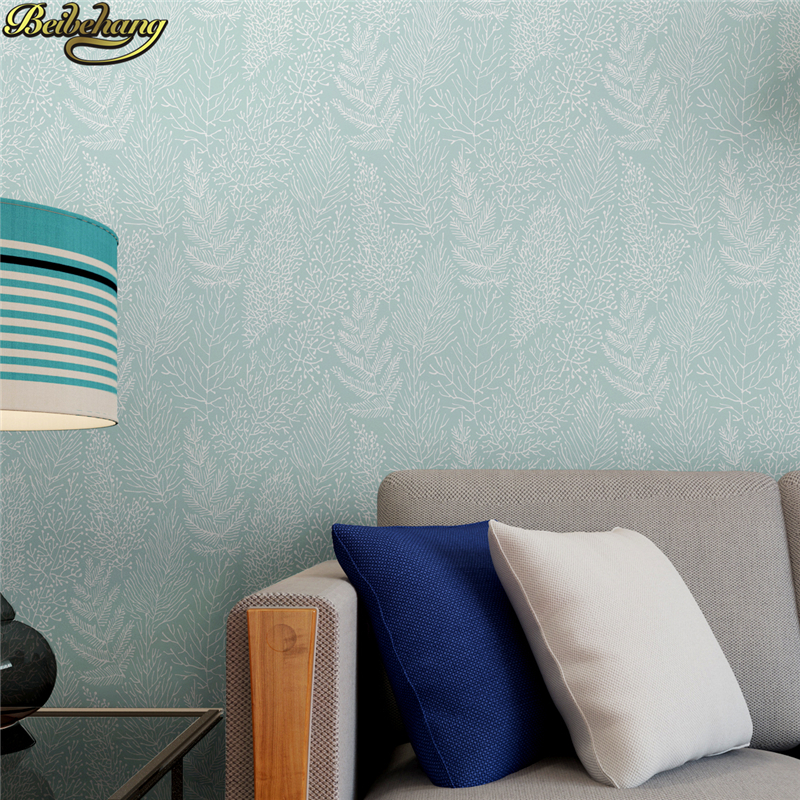 beibehang Nordic foliage branches wall paper roll white TV background wallpaper for living room Embossed Home Decoration Bedroom beibehang high quality embossed wallpaper for living room bedroom wall paper roll desktop tv background wallpaper for walls 3 d
