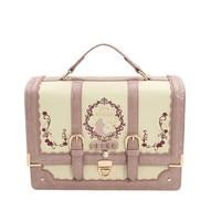 Lolita Style Pink Alice In Wonderland Embroidery Handbag axes femm Shoulder BAG Messenger Bag School Women Lady Girls Bag