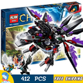 412pcs Bela 10060 Razar's CHI Raider assembling Model Building Blocks Toys For Children Boys Compatible With Lego