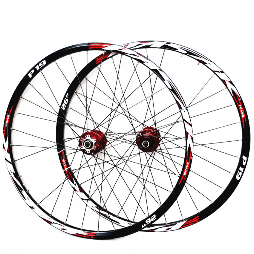 PASAK MTB Mountain Bike Bicycle front 2 rear 4 sealed bearings alloy hub wheels wheelset <font><b>Rims</b></font> image