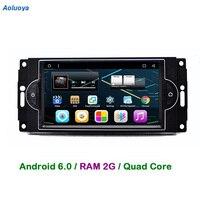 Aoluoya RAM 2GB Android 6 0 CAR Radio DVD GPS Player For Chrysler 300C Dodge RAM