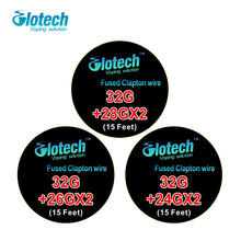 Glotech 5m/roll Fused Clapton Wire heating wire  for RDA RBA Rebuildable Atomizer Coil E-Cigarette Vaporizer coils
