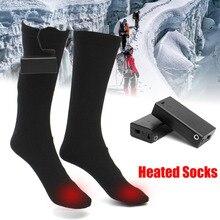 3V 50 Degree Heated Men Socks Winter Keep Warm Foot Leg Mid calf Socks Unisex Men