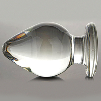 VAHPPY1 piece Extra Large Huge Head Glass Anal Plugs G spot Crystal Anal Plug Bomb Plug Super Big Size Pyrex Glass Anal sex toys