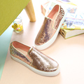 Free shipping Spring new rivet sequined loafers canvas casual shoes a pedal
