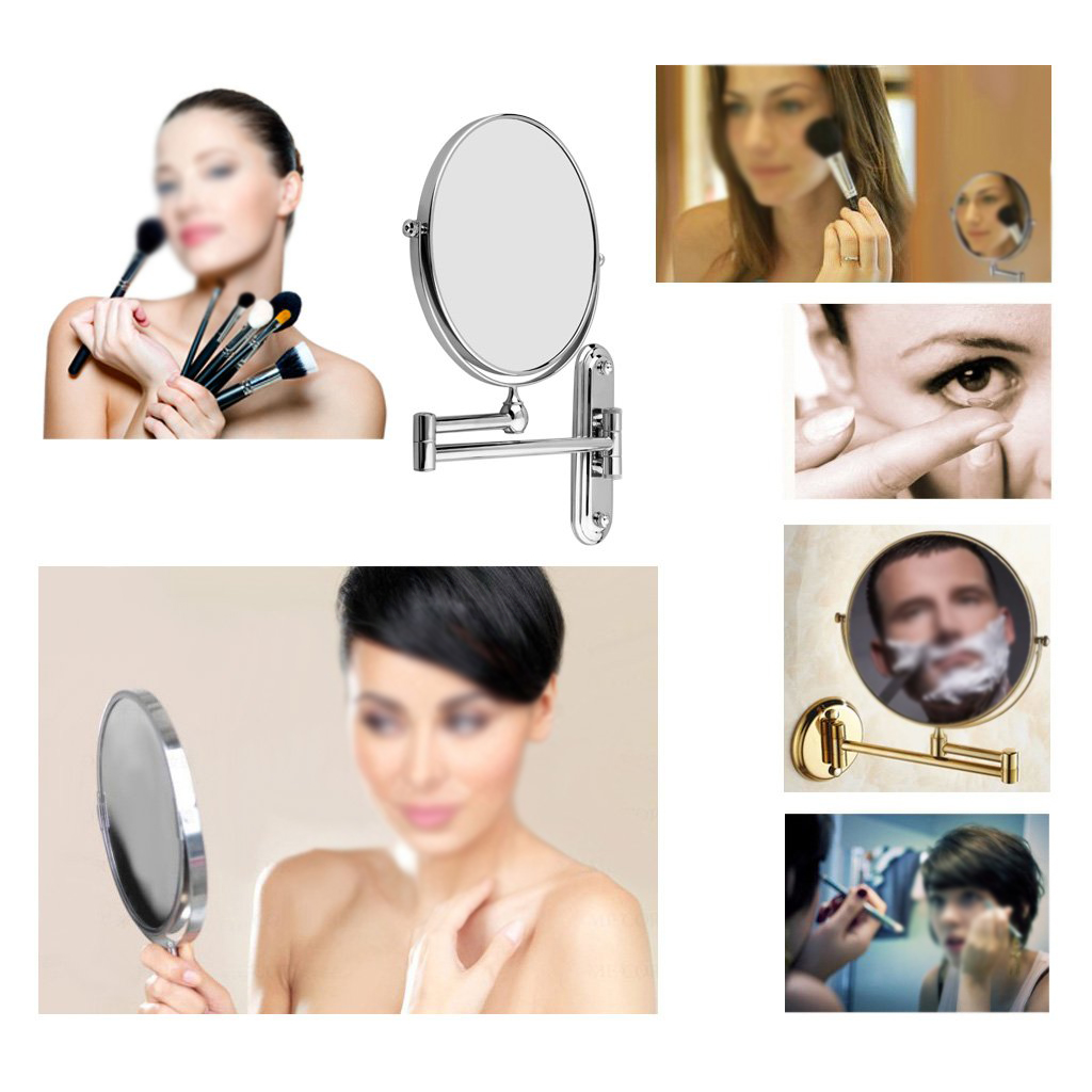 Best Sale Silver Extending 8 inches cosmetic wall mounted make up ...
