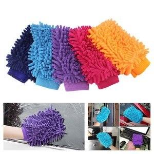 Image 5 - 1pc Auto Waschen Handschuhe Wasser Absorption Hand Handtuch Mikrofaser reinigung Schwamm Handtuch Korallen Chenille Weiche Auto Reinigung Werkzeug