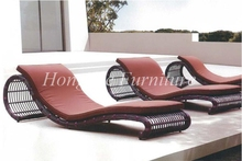 Wicker outdoor lounge chair set with cushions sale