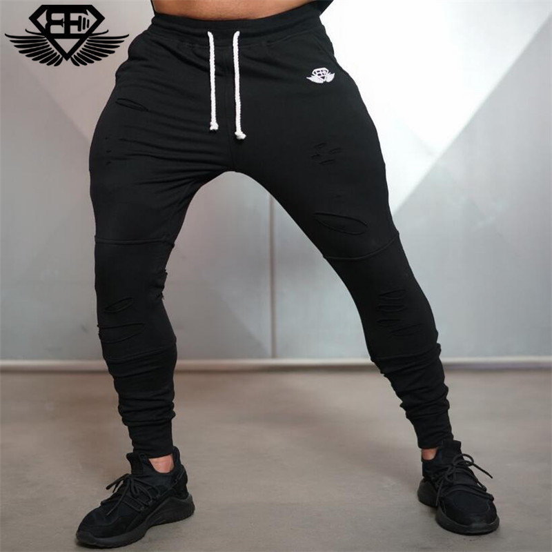 Brand New Gold Medal Fitness Casual Elastic Pants Stretch Cotton Mens Pants Gyms Body Engineers Jogger Bodybuilding Pants
