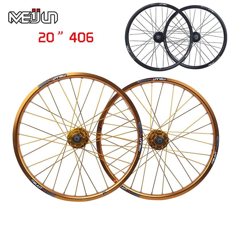 20'' inch 406 MTB Mountain Bikes Folding Bicycles Disc Brake Wheel Wheelset Hubs Rim Parts DIY wheels