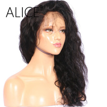 "ALICE 150 Density Glueless Brazilian Full Lace Wigs With Baby Hair 12-24"" Remy Pre Plucked Human Hair Wigs For Black Women"