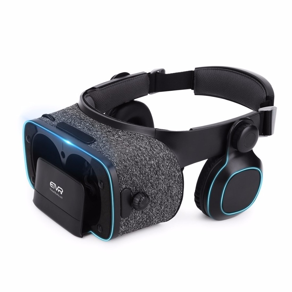 ETVR Z5 3D VR Glasses 2018 Virtual Reality Helmet Google Cardboard VR Box With Headset Stereo For 4.7-6.2 +Bluetooth Controller