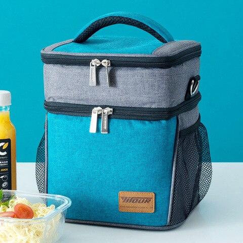 Bolsa de Almoço Bolsa de Comida Caixa de Almoço para Mulheres e Crianças Nova Moda Isolado Térmica Grande Capacidade Casual Piquenique Boa Qualidade