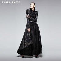 PUNK RAVE Female Velvet Gothic Jacket Steampunk Vintage Victorian Style Gorgeous Long Coat Formal Evening Party Women Jacket