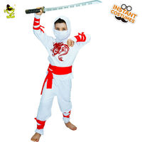2017 New Boys White Ninja Child Costumes Scary Horror Bloody Halloween Costumes Fancy Dress Cosplay Costumes