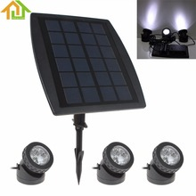 3 x 6 White Light LEDs Waterproof Solar Powered Garden Lamp + 1 x Solar Panel