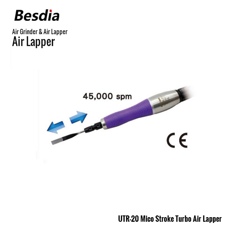 TAIWAN Besdia Air Grinder  & Air Lapper UTR-20 Mico Stroke Turbo Air Lapper mirco air grinder mag 122n 35 000rpm collet size 20mm 0 6mpa 140g