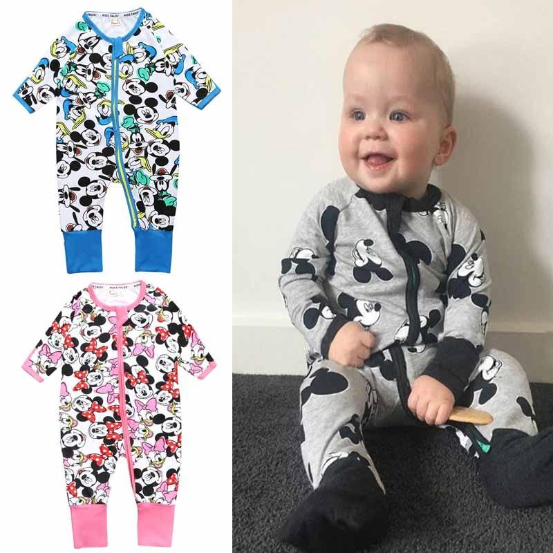 f4af271530c1a Mickey Baby Boy Clothing Minnie Infant Jumpsuit Disney Baby Girls ...