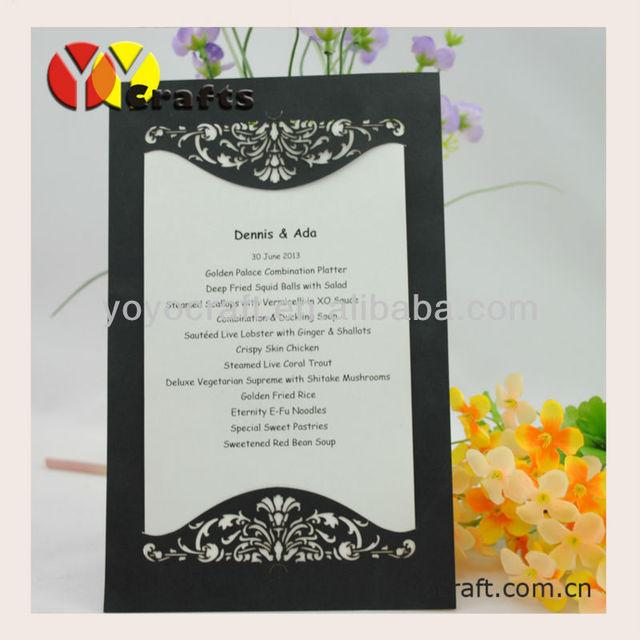 Laser cutting Customized wedding party invitation card ,Birthday