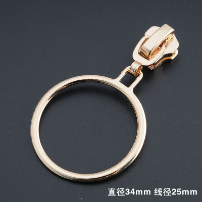 Free Shipping 10pcslot 5 Metal Zipper Head Light Gold Personality