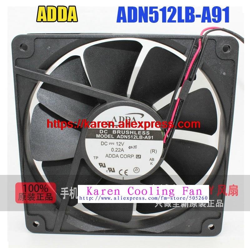 New Original ADDA ADN512LB-A91 DC12V 0.22A 135*135*25MM  13cm Computer cooling fan